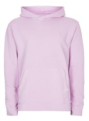 Topman Purple Washed Lilac Classic Fit Hoodie