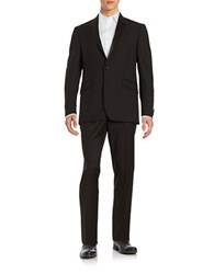 Kenneth Cole Reaction Satin Trimmed Suit Black
