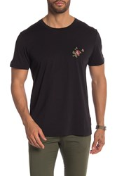 7 For All Mankind La Floral Tee Black