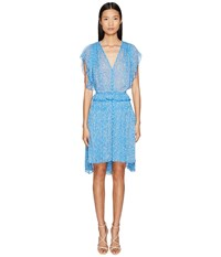 The Kooples Shading On Crepon Blue Women's Dress