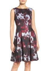 Adrianna Papell Women's Print Fit And Flare Dress