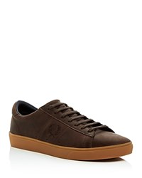 Fred Perry Spencer Lace Up Sneakers Dark Chocolate