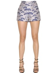 Giambattista Valli Floral Jacquard High Waisted Shorts