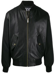 Versace Jeans Couture Shell Panelled Bomber Jacket Black