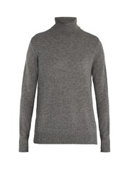 Equipment Oscar Roll Neck Cashmere Sweater Grey