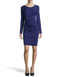 Halston Heritage Long Sleeve Ruched Jersey Dress Large