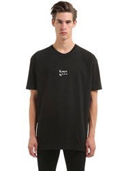 11 Eleven Oversized Kanye Printed Cotton T Shirt