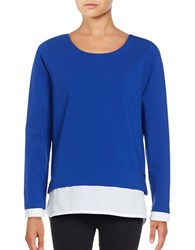 Marc New York Mock Layer Pullover Blue