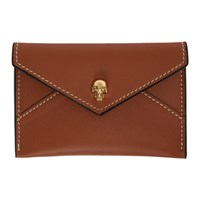 Alexander Mcqueen Tan Envelope Card Holder