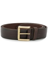 Orciani Textured Effect Belt Brown