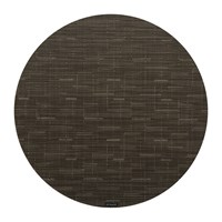 Chilewich Bamboo Round Placemat Chocolate