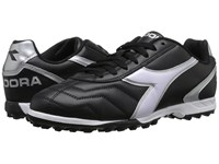 Diadora Capitano Tf Black White Silver Soccer Shoes