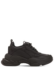 Jeffrey Campbell 60Mm Leather Sneakers Black
