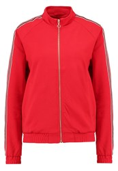 Only Onlpoptrash Tracksuit Top Tango Red