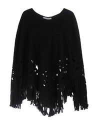 Cristinaeffe Capes And Ponchos Black