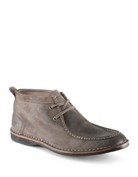 Andrew Marc New York Dorchester Suede Moccasin Boots Mushroom