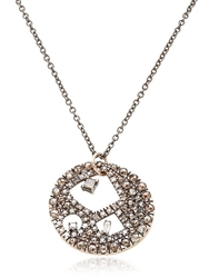 Fabrizio Riva Baguette Diamonds Necklace Brown Diamond