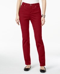 Styleandco. Style Co. Petite Tummy Control Straight Leg Jeans Only At Macy's New Red Amore