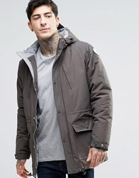 Fat Moose Innercity Parka Brushed Cotton Lined Anthracite Grey