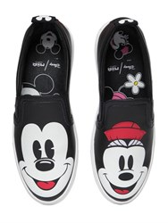 Moa Master Of Arts Disney Printed Leather Slip On Sneakers