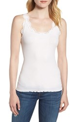 Rosemunde Babette Lace Trim Tank New White