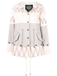 Mr And Mrs Italy Embroidered Mini Parka Pink