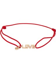 The Alkemistry Kismet By Milka Love 14Ct Rose Gold And Red Cord Bracelet