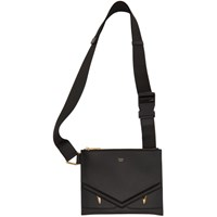 Fendi Black Slim 'Bag Bugs' Messenger Bag