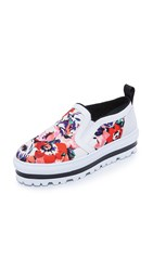 Msgm Slip On Sneakers Floral Red Multi