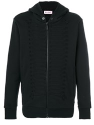 Palm Angels Hooded Jacket With Detail Men Cotton Acrylic Viscose Metal Xl Black