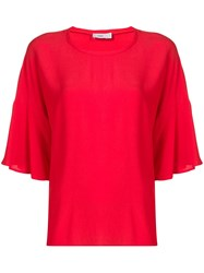 Closed Oversized Blouse Red