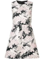 Red Valentino Floral Print Dress Pink
