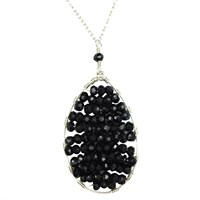 Sobella Jewelry Black Spinel Layered Necklace Sterling Silver