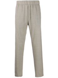Paura Logo Embroidered Trousers Neutrals