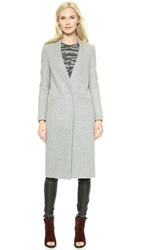 Whistles Irene Collarless Overcoat