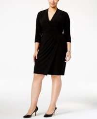 Anne Klein Plus Size Wrap Dress Black