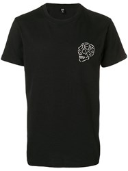 Deus Ex Machina Printed Skull T Shirt Black
