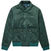 Bleu De Paname 2 Pocket Corduroy Jacket Green