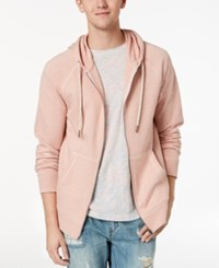 American Rag Men's Pink Textured Hoodie Created For Macy's M Pink