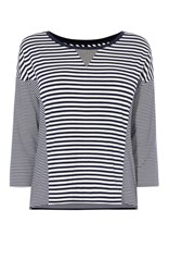 Karen Millen Breton Stripe Panel Top Multi Coloured Multi Coloured
