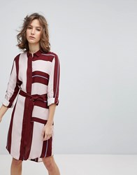 Selected Femme Uniform Stripe Shirt Dress Multi