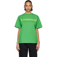 Aries Green New Balance Edition Unbalanced T Shirt