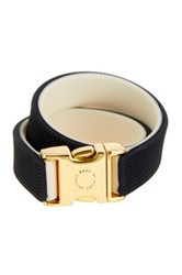 Marc By Marc Jacobs Snap It Up Silicone Wrap Bracelet Black