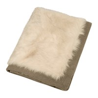 Etro Hesdin Faux Fur Throw Beige