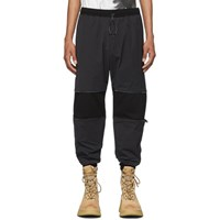 Julius Black Gabardine Lounge Pants