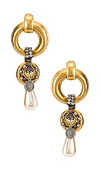 Elizabeth Cole Limone Earrings In Metallic Gold.