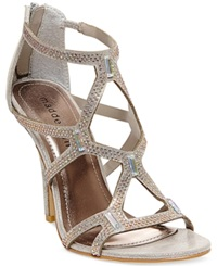 Madden Girl Madden Girl Digitize Caged Rhinestone Dress Sandals Women's Shoes Silver