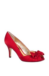 Women's Nina 'Forbes' Peep Toe Pump Red Rouge