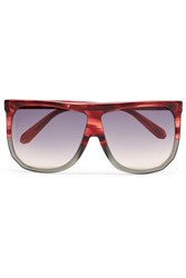 Loewe Filipa Oversized D Frame Two Tone Acetate Sunglasses Red