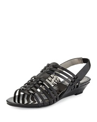 Circa Joan And David Faiza Slingback Wedge Sandal Black